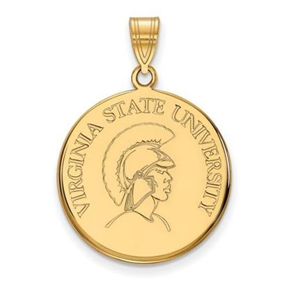 Picture of Virginia State University Trojans Sterling Silver Gold Plated Large Disc Pendant