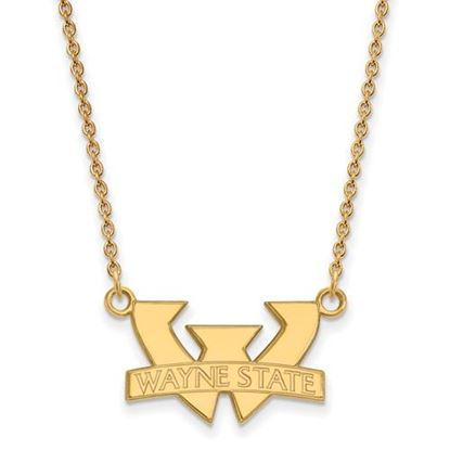 Picture of Wayne State University Warriors 10k Yellow Gold Small Necklace