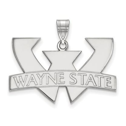 Picture of Wayne State University Warriors 10k White Gold Large Pendant