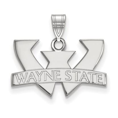 Picture of Wayne State University Warriors 14k White Gold Small Pendant