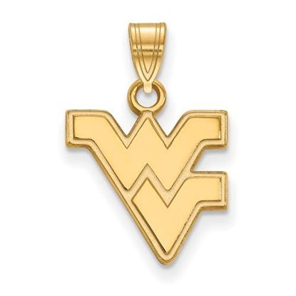 Picture of West Virginia University Mountaineers Sterling Silver Gold Plated Small Pendant