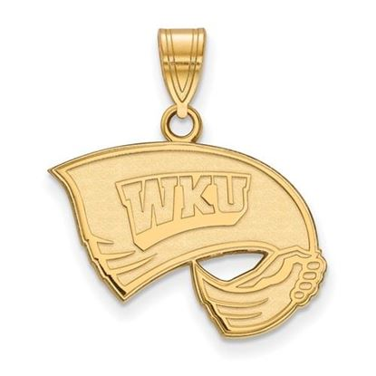 Picture of Western Kentucky University Hilltoppers Sterling Silver Gold Plated Medium Pendant