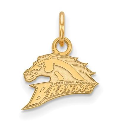 Picture of Western Michigan University Broncos Sterling Silver Gold Plated Extra Small Pendant