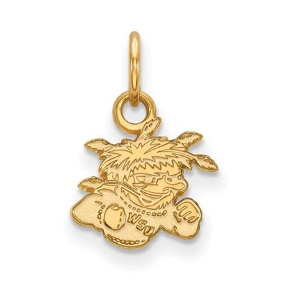 Picture of Wichita State University Shockers Sterling Silver Gold Plated Extra Small Pendant