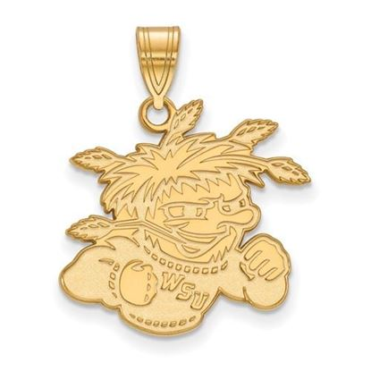 Picture of Wichita State University Shockers Sterling Silver Gold Plated Large Pendant