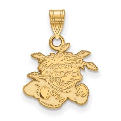 Picture of Wichita State University Shockers Sterling Silver Gold Plated Small Pendant