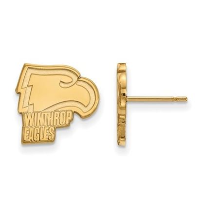 Picture of Winthrop University Eagles 14k Yellow Gold Small Post Earrings