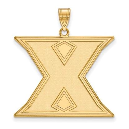 Picture of Xavier University Musketeers Sterling Silver Gold Plated Extra Large Pendant