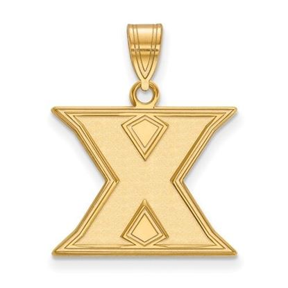 Picture of Xavier University Musketeers Sterling Silver Gold Plated Medium Pendant