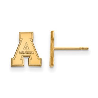 Picture of Appalachian State University Mountaineers Sterling Silver Gold Plated Extra Small Post Earrings