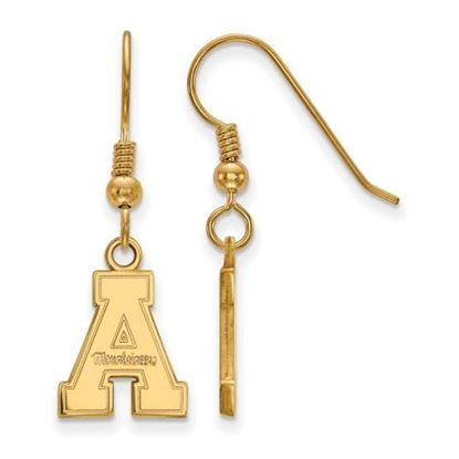 Picture of Appalachian State University Mountaineers Sterling Silver Gold Plated Small Dangle Earrings