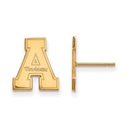 Picture of Appalachian State University Mountaineers Sterling Silver Gold Plated Small Post Earrings