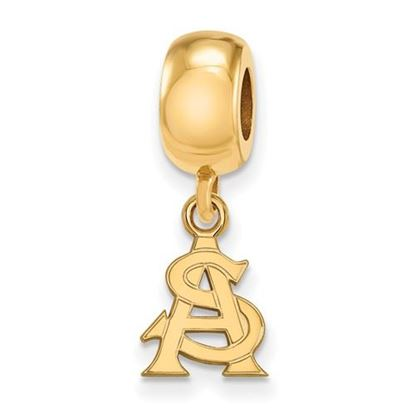 Picture of Arizona State University Sun Devils Sterling Silver Gold Plated Extra Small Trident Bead Charm