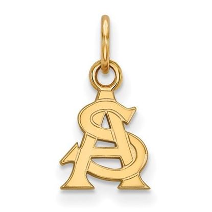 Picture of Arizona State University Sun Devils Sterling Silver Gold Plated Extra Small Pendant