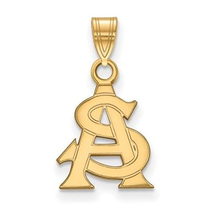 Picture of Arizona State University Sun Devils Sterling Silver Gold Plated Small Pendant