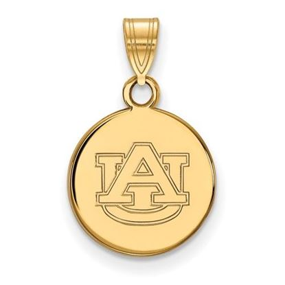 Picture of Auburn University Tigers Sterling Silver Gold Plated Small Disc Pendant