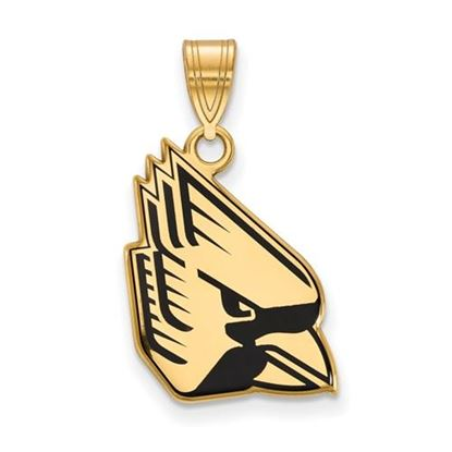 Picture of Ball State University Cardinals Sterling Silver Gold Plated Large Enameled Pendant