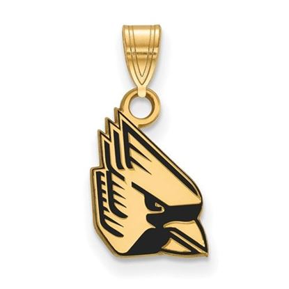 Picture of Ball State University Cardinals Sterling Silver Gold Plated Small Enameled Pendant