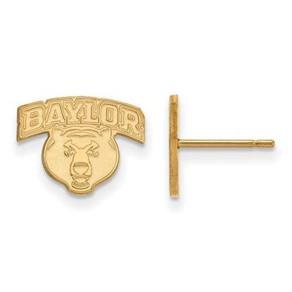 Picture of Baylor University Bears Sterling Silver Gold Plated Extra Small Post Earrings