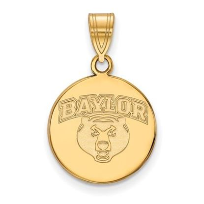Picture of Baylor University Bears Sterling Silver Gold Plated Medium Disc Pendant