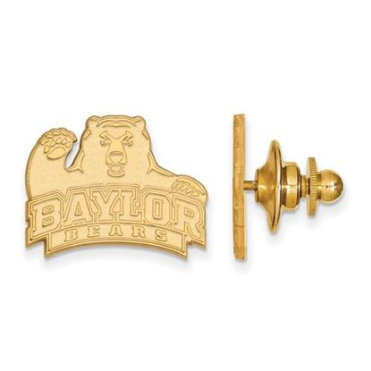 Picture of Baylor University Bears Sterling Silver Gold Plated Lapel Pin