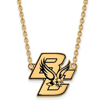 Picture of Boston College Eagles Sterling Silver Gold Plated Large Enameled Necklace
