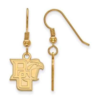 Picture of Bowling Green State University Falcons Sterling Silver Gold Plated Sm Dangle Earrings