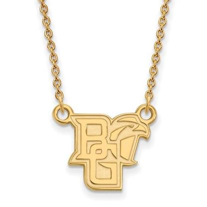 Picture of Bowling Green State University Falcons Sterling Silver Gold Plated Small Necklace