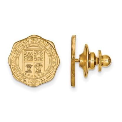 Picture of Bowling Green State University Falcons Sterling Silver Gold Plated Crest Lapel Pin