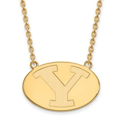 Picture of Brigham Young University Cougars 14k Sterling Silver Gold Plated Large Necklace