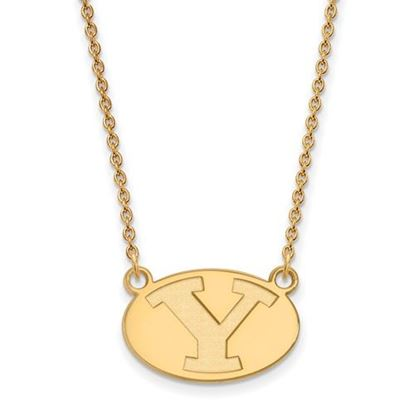 Picture of Brigham Young University Cougars 14k Sterling Silver Gold Plated Small Necklace