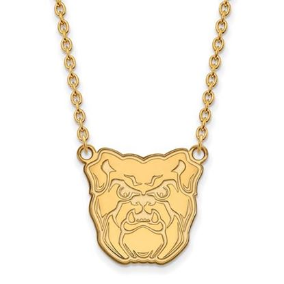 Picture of Butler University Bulldogs Sterling Silver Gold Plated Large Necklace