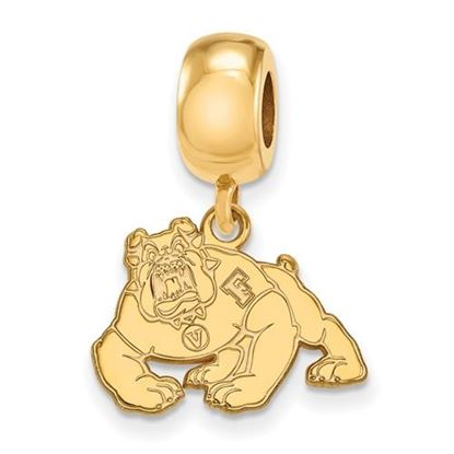 Picture of California State University Fresno Bulldogs Sterling Silver Gold Plated Sm Bead Charm