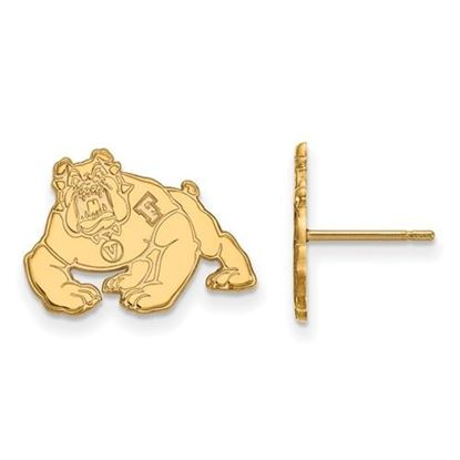 Picture of California State University Fresno Bulldogs Sterling Silver Gold Plated Small Post Earrings