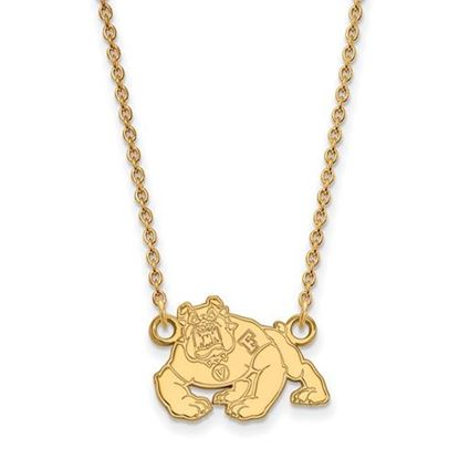 Picture of California State University Fresno Bulldogs Sterling Silver Gold Plated Necklace
