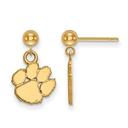 Picture of Clemson University Tigers Sterling Silver Gold Plated Dangle Earrings
