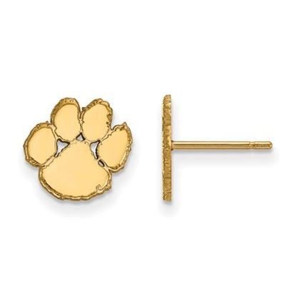 Picture of Clemson University Tigers Sterling Silver Gold Plated Extra Small Post Earrings