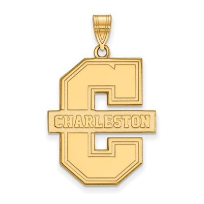 Picture of College of Charleston Cougars Sterling Silver Gold Plated Extra Large Pendant