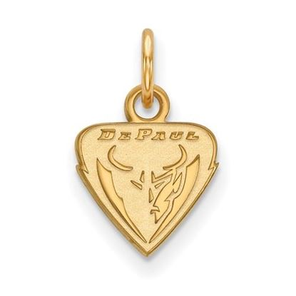 Picture of DePaul University Blue Demons Sterling Silver Gold Plated Extra Small Pendant
