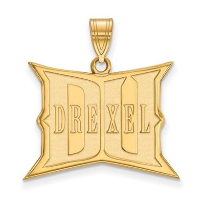 Picture of Drexel University Dragons Sterling Silver Gold Plated Large Pendant