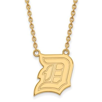 Picture of Duquesne University Dukes Sterling Silver Gold Plated Large Necklace