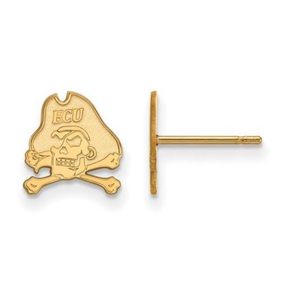 Picture of East Carolina University Pirates Sterling Silver Gold Plated Extra Small Post Earrings