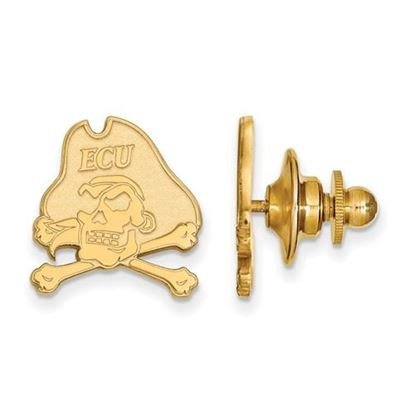 Picture of East Carolina University Pirates Sterling Silver Gold Plated Lapel Pin