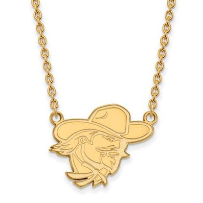 Picture of Eastern Kentucky University Pirates Sterling Silver Gold Plated Large Necklace