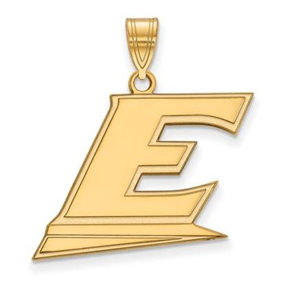 Picture of Eastern Kentucky University Pirates Sterling Silver Gold Plated Large Pendant