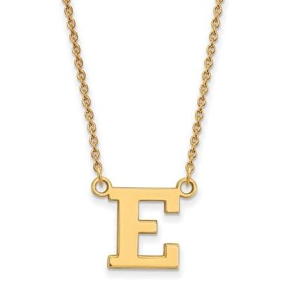 Picture of Eastern Michigan University Eagles Sterling Silver Gold Plated Small Necklace