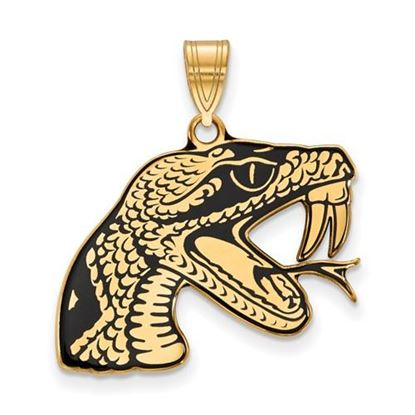Picture of Florida A&M University Rattlers Sterling Silver Gold Plated Large Enameled Pendant