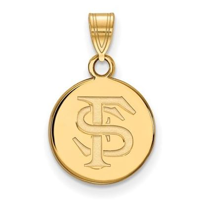 Picture of Florida State University Seminoles Sterling Silver Gold Plated Small Disc Pendant