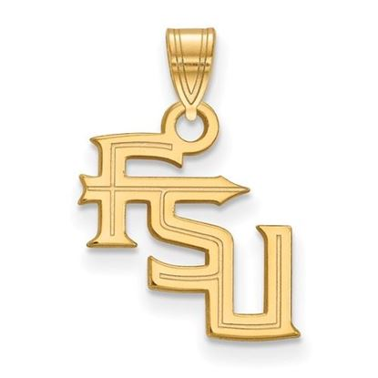 Picture of Florida State University Seminoles Sterling Silver Gold Plated Small Pendant