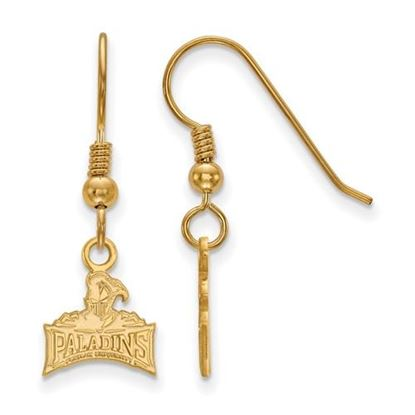 Picture of Furman University Paladins Sterling Silver Gold Plated Extra Small Dangle Earrings